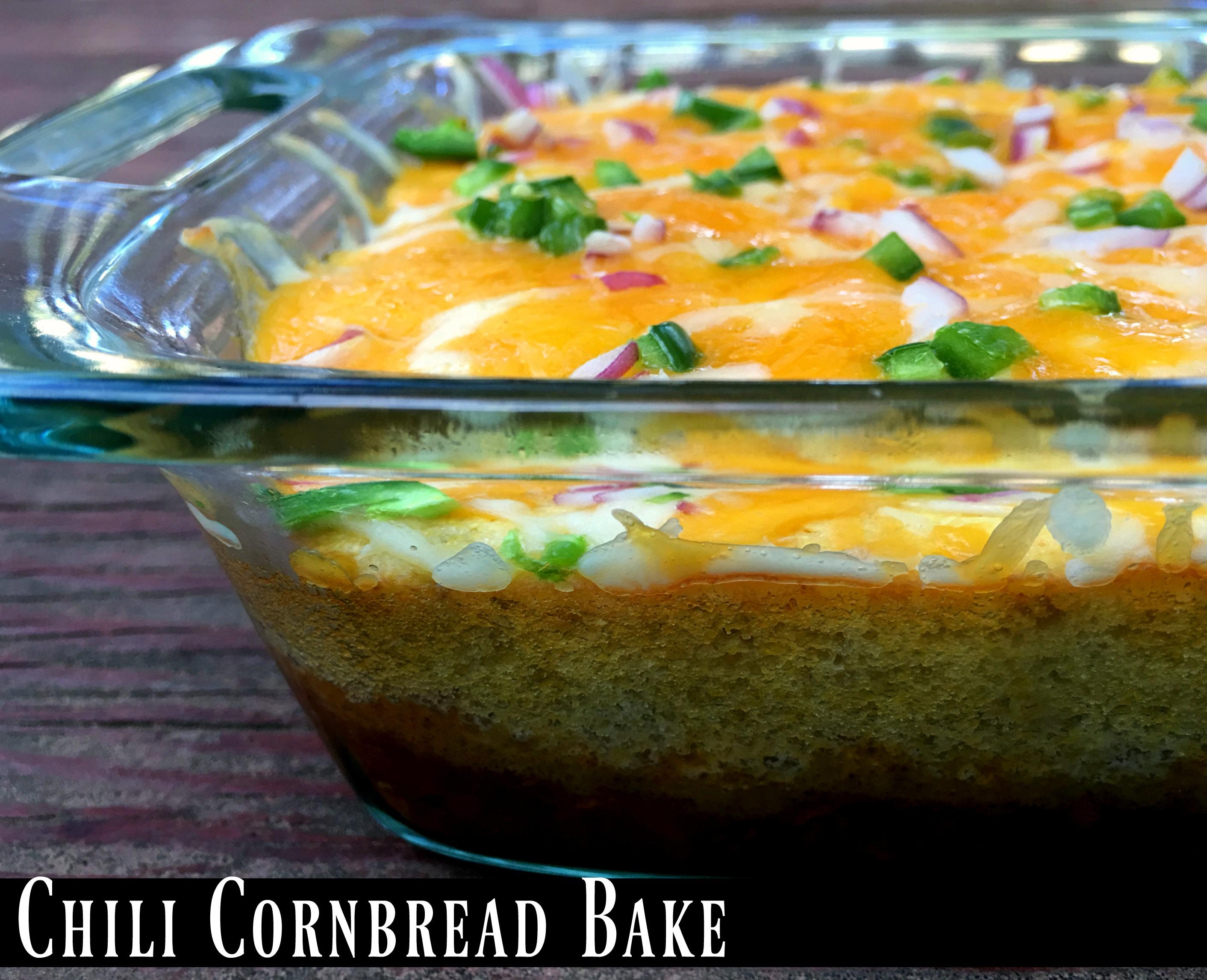 Leftover Chili Cornbread Bake