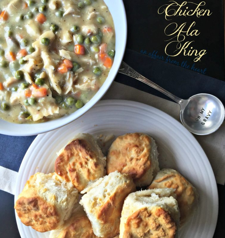 Super easy recipe for Chicken (or Turkey) Ala King – using left over meat and frozen veggies