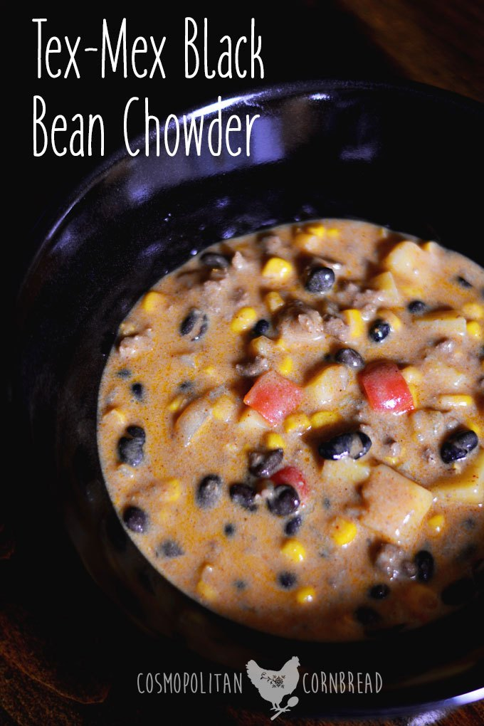 Tex-Mex Black Bean Chowder has just a little zip and a whole lot of flavor. The best part, is that this chowder is quick to make, so you can have it any night of the week!