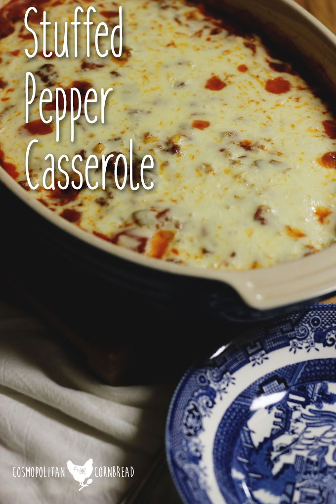All of the flavor of classic stuffed peppers in the form of an easy casserole.