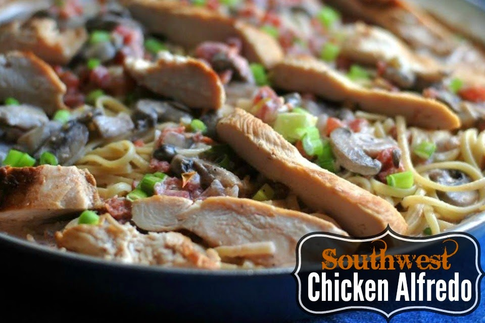 There is SO much flavor packed into this Southwest Chicken Alfredo! It is such a special meal for our family!