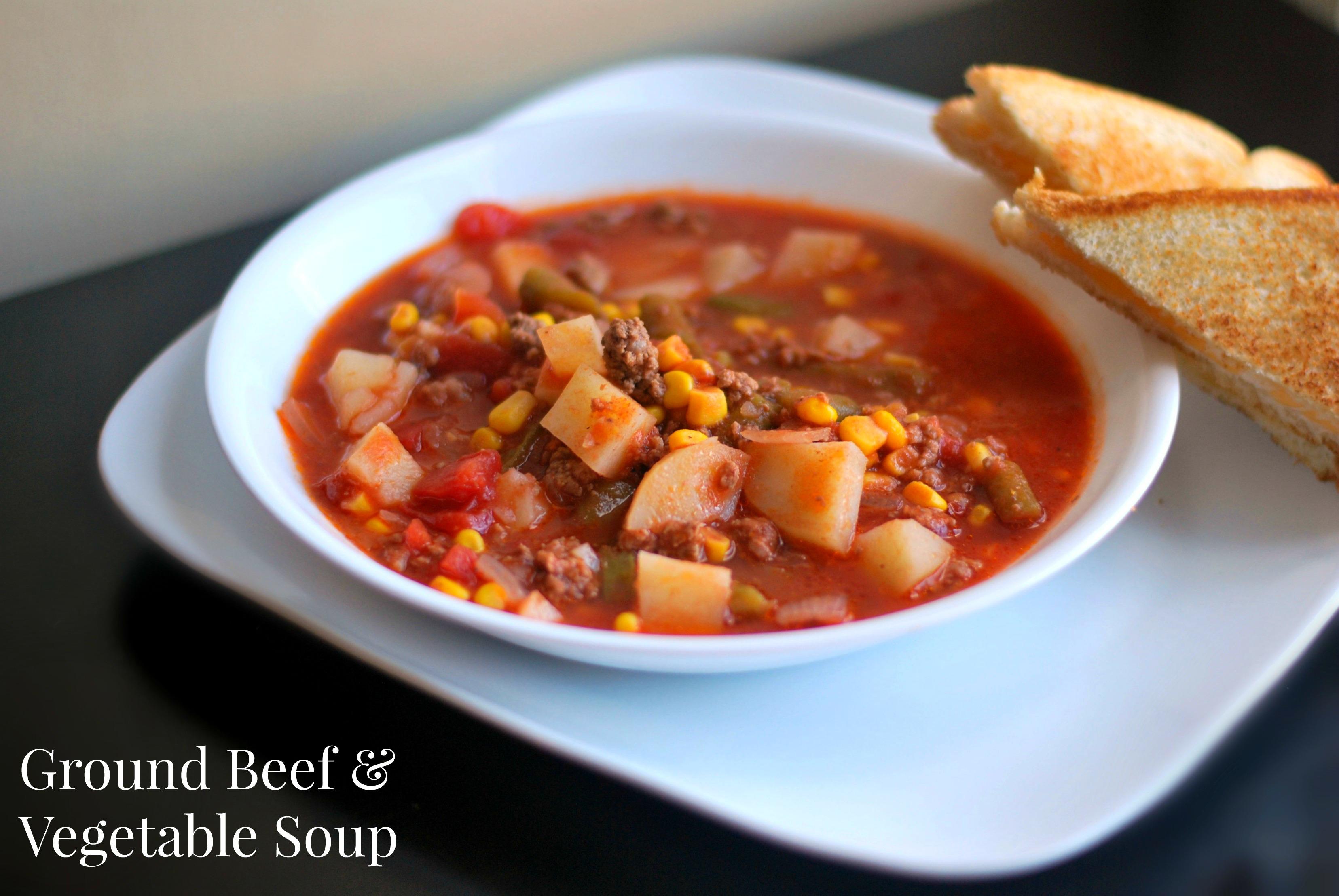 Nana's Ground Beef & Vegetable Soup