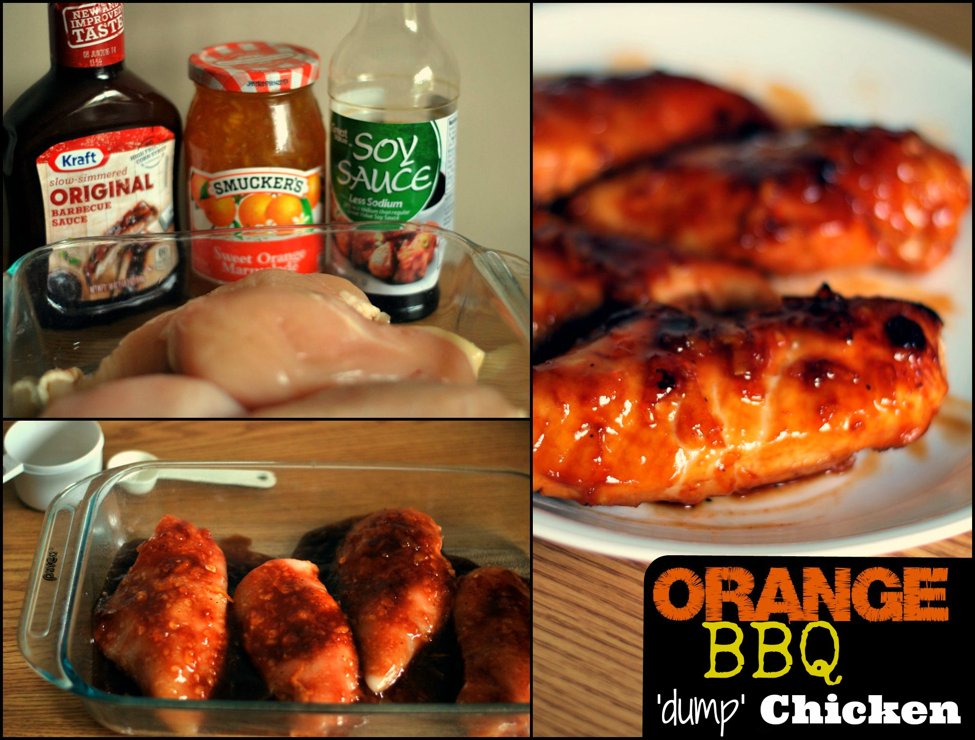 Orange Bbq Dump Chicken Aunt Bee S Recipes
