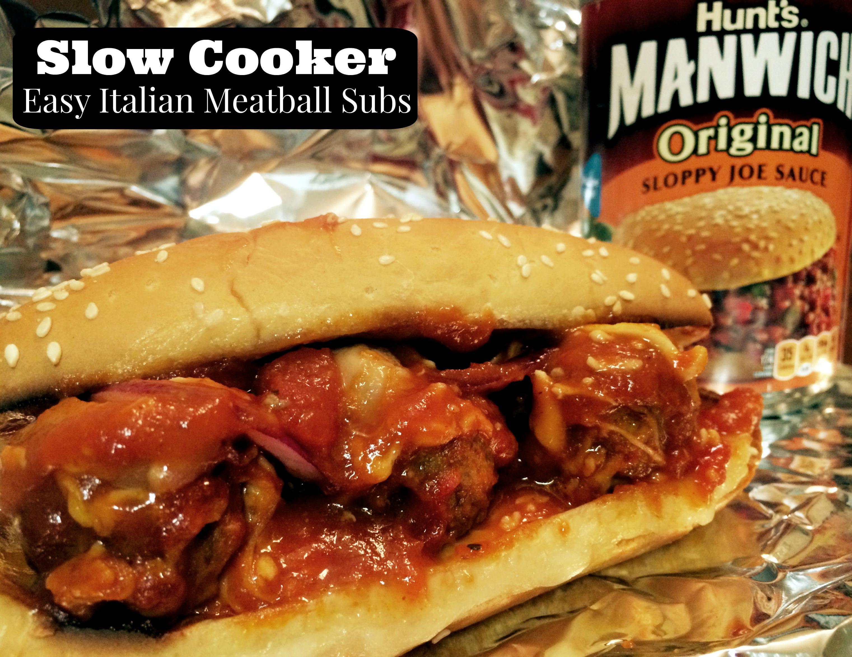 Slow Cooker Easy Italian Meatball Subs