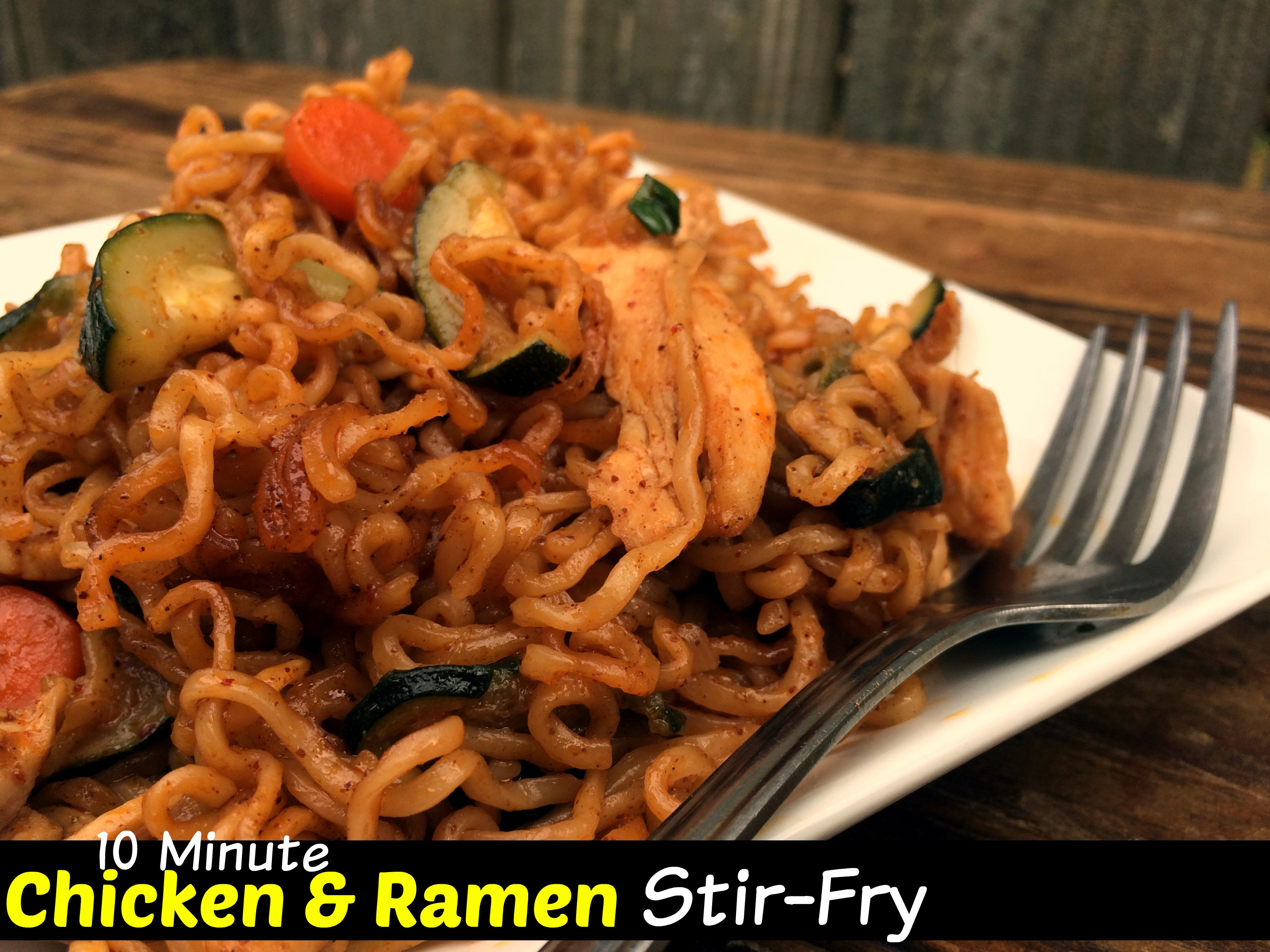 10 Minute Chicken Ramen Stir-Fry