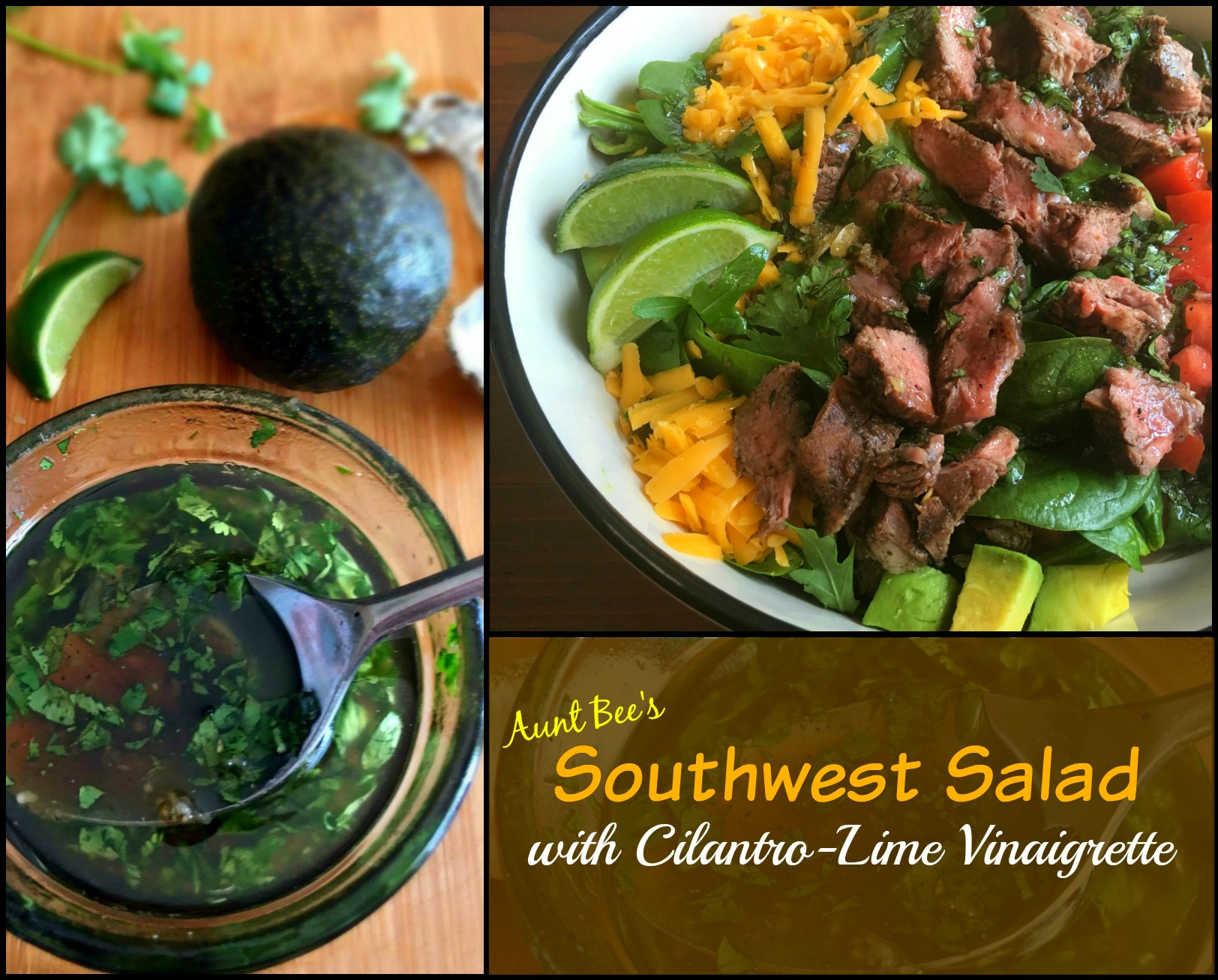 Southwest Salad with Cilantro-Lime Vinaigrette