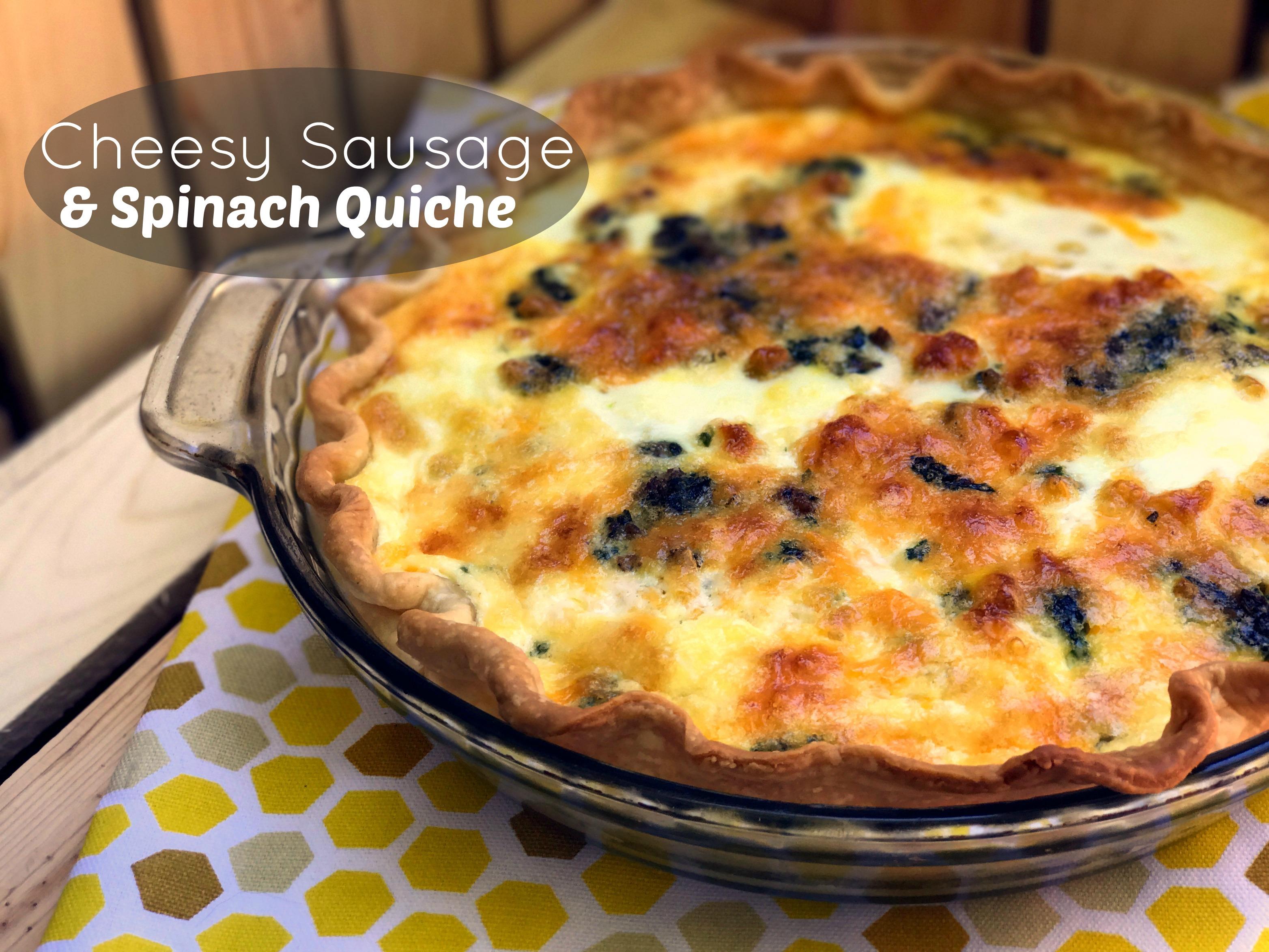 Cheesy Sausage & Spinach Quiche