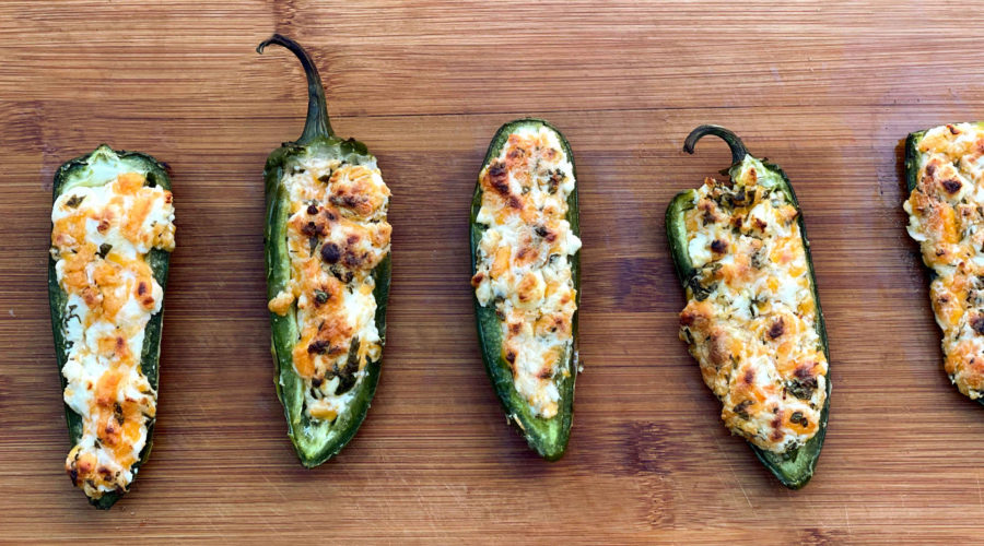 Three Cheese Jalapeno Poppers