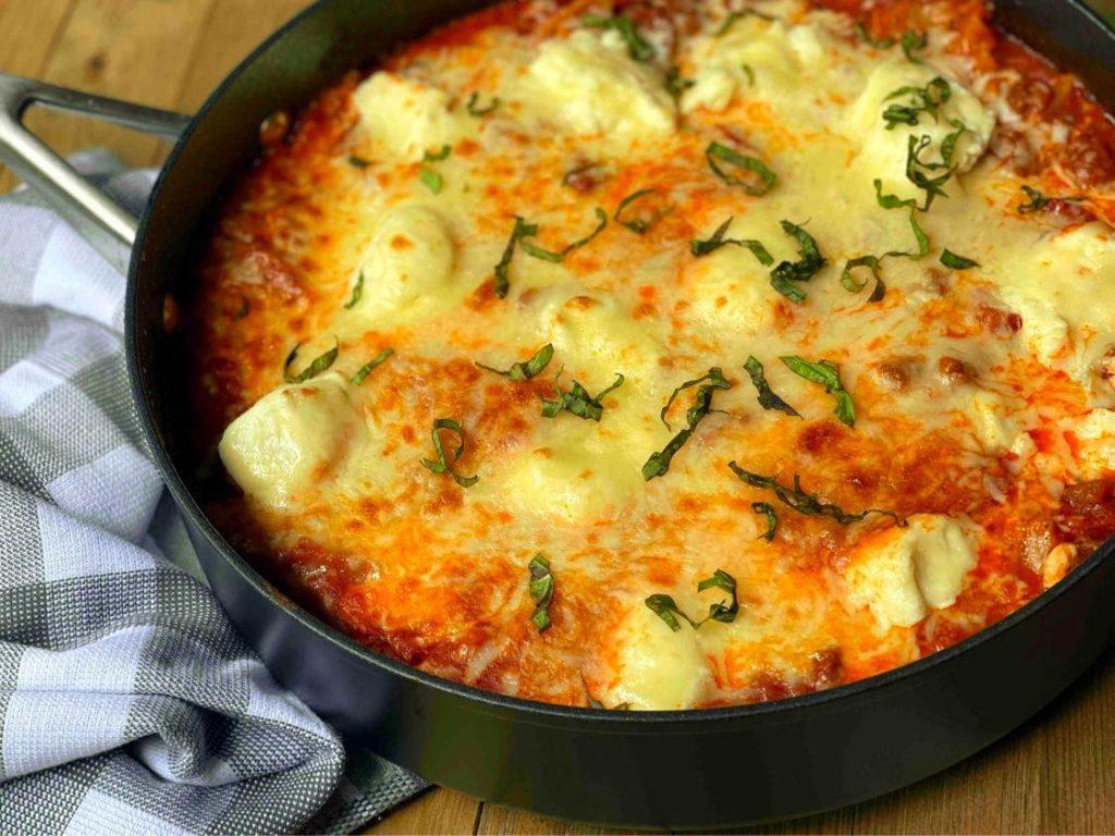 30 Minute Skillet Lasagna | Aunt Bee's Recipes